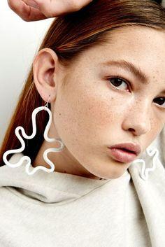 MARS hollow splash earrings - SILVERS
