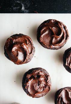 Recipe: Chocolate Beet Cupcakes with Sour Cream Ganache Frosting — Sweet Veggie Treats from Samantha Seneviratne