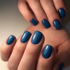 Es Nails, Blue Nails, Hair And Nails, Sns Nails Colors, Dark Gel Nails, Summer Nail Polish Colors, Dip Nail Colors, Spring Nail Colors, Summer Colors