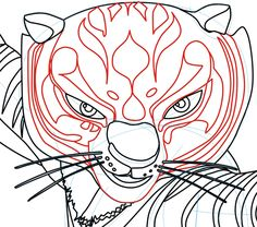 Step 6 : Drawing Master Tigress from Kung Fu Panda in Easy Steps Lesson