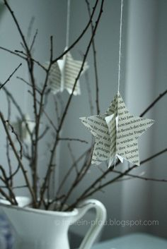 Books book pages gifts educators kindergarten teachers small business Christmas Is Coming, Winter Christmas, Christmas Time, Diy Crafts To Do, Xmas Crafts, Origami, Creation Deco, Theme Noel, Summer Diy