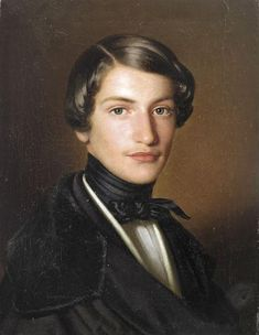 Portrait of a young Man, Anton Einsle (1841)