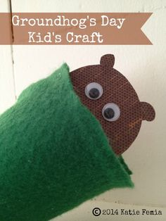 Groundhog Puppet: A Groundhog's Day Craft for Kids. This frugal and easy Groundhog's Day craft is a fun activity to do with your children.