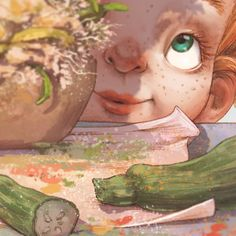The illustration is a little detail from a book I worked on with this year that will be published… Watercolor Illustration Tutorial, Watercolor Illustration Children, Children's Book Illustration, Character Illustration, Cute Paintings, Artists For Kids, Kid Character, Illustrator Tutorials, Cute Drawings