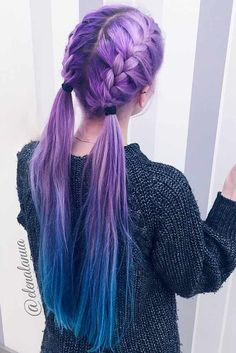 You need to see these stunning purple hair ideas for braiding if you want to keep up with the hair trends and be creative. * More info could be found at the image url.