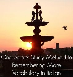 One Secret Study Method to Remembering More Vocabulary in Italian