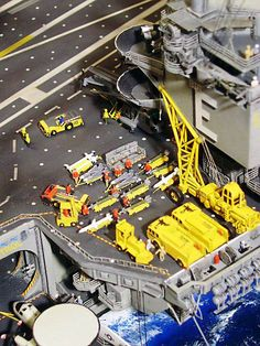detail from a model of an aircraft carrier (from Scale Modeling Now)