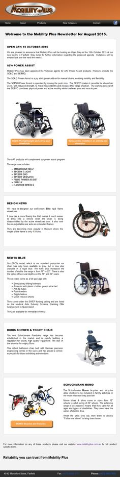 <p><a href=&quot;/pin/211317407492987621/&quot;></a>It is not difficult to send out a newsletter that looks as good as this. We set this one up for Mobility Plus and made the editing of it as easy as possible for their next one.</p>