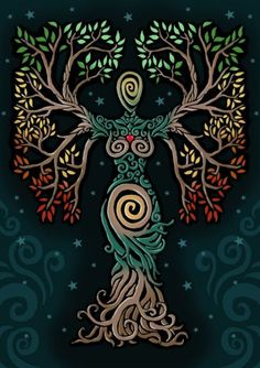 ideas tattoo tree of life albero della vita for 2019 Pagan Art, Goddess Art, Earth Goddess, The Goddess, Goddess Pagan, Goddess Tattoo, Inspiration Art, Celtic Art, Nature Paintings
