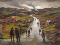 Miners Returning on a Wet Evening  -  John... - Cozyhuarique