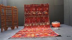 Vintage Old moroccan rug 6x11 Fabulous Vintage Old Hand