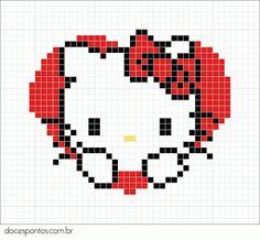 Love Hello Kitty perler bead pattern
