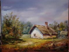 Maksai János Stare Szopy, Home Art, Houses, Landscape, Painting, Magick, Artists, Colors, Homes