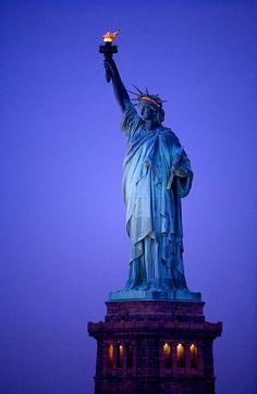 Statue of Liberty at Dawn, NYC by Jim Zuckerman