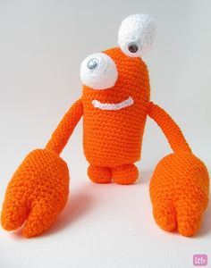 Little Things Blogged: {Amigurumi Greg the Crab Monster}
