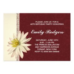 """Zazzle. elegant vintage birthday invitations.  I suggest the """"Linen"""" or """"Felt"""" paper for this design. If you need more additional products (like rsvp, table cards, welcome letterheads, postage stamps etc), please contact me. If you like my style, please go to my store and see a lot of unique designs. ..............................................If you need to change only the text please use the """"PERSONALIZE IT"""" window on the right. After you change the information, choose the paper, add a…"""