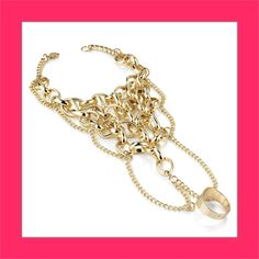 ♥ £7 Chain Mail Bracelet And Ring Set - Steal Her Style