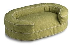 Crypton Super Fabric Loppy Oval Bolster Green, Medium -- To view further, visit now : All pet supplies