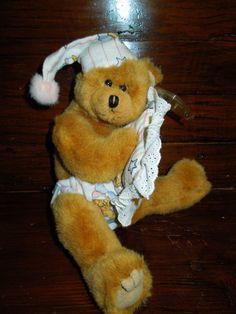 "$12.77 FREE SHIPPING #TeddyBear PRECIOUS #Sleeping pajamas pillow nightcap TY Attic Treasure 14"" MWMT"