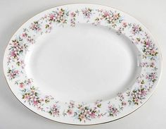 """Royal Grafton Summer Melody 15"""" Oval Serving Platter"""