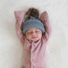 newborn baby onesie -- layette -- blush color