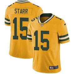 Panthers Luke Kuechly jersey Nike Packers  15 Bart Starr Yellow Men s  Stitched NFL Limited Rush c873a73eb