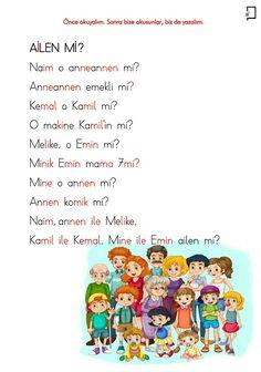 Turkish Language, Preschool Writing, School Motivation, Erdem, Grade 1, Grammar, Diy And Crafts, Printables, Education