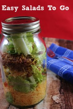 How to Make Mason Jar Salads