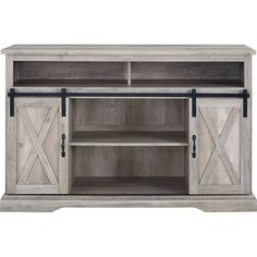 "Walker Edison - Farmhouse TV Stand for Most TVs Up to 56"""" - Gray Wash"
