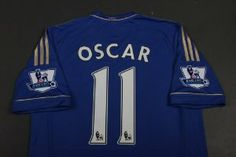 Chelsea 2012 - 2013 OSCAR Home Jersey Shirt & Shorts Size S by adidas. $49.99. Machine washable. Adult Jersey  Shirt & Shorts  Size S. Printed sponsor. Chelsea Club badge. ClimaCool material. adidas Chelsea Home Jersey 2012/2013  Cheer on the Blues to winning ways in the new adidas Chelsea 2012/2013 Home Shirt, featuring a classic design of the adidas 3-Stripes styling to the shoulders, with the full logo and club badge adorning the chest, complete with printed ...