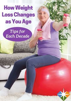 Find out how weight loss changes as you age and get tips for each decade on how you can continue to get healthy regardless of your age!