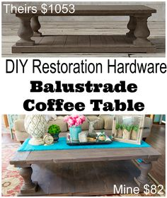 Why buy when you can DIY? Check out this stunning Restoration Hardware-inspired coffee table by Restoration Redoux.