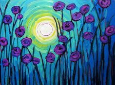 Sunrise Poppies X - Painted Cellars - Paint and Wine Sonoma