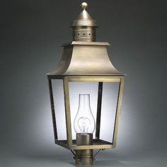 Northeast Lantern Sharon Chimney Pagoda 1 Light Lantern Head Finish: Raw Copper, Shade Type: Clear Seedy