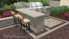 """Grill Station Design for Grill up to 63"""" 