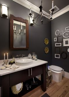 bathroom inspiration... but might be too dark for practical reasons