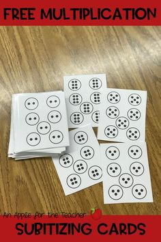 If you are looking for a subitizing activity for your third or fourth graders, these subitizing multiplication cards are perfect!  I have been using these cards as warm ups for small group and whole group lessons as well as for time fillers when we have a few extra minutes.  The kids love them and it has also helped with learning their math facts! Math Classroom, Classroom Organization, Future Classroom, Classroom Ideas, Teaching Multiplication, Teaching Math, Subitizing Activities, Family Math Night, School Information