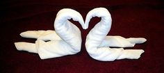 How to make towels into a swan - just like in a cruise ship!