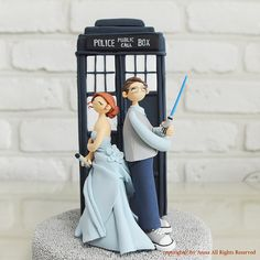 Custom Cake Topper -Doctor Who, Star wars combined theme-