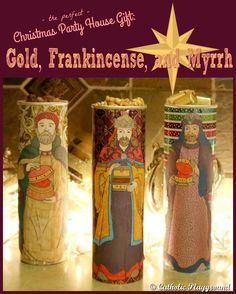 Headed to a Christmas party?  Looking for the right gift or recipe?  How about edible gold, frankincense and myrrh??  Find more pictures and easy instructions by clicking the image above!
