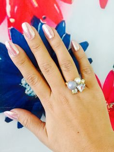 Pink Nails , charm ring  www.cuantotequiero.mx