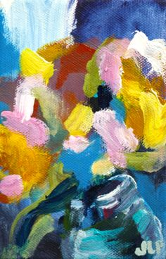 Floral impressionist painting