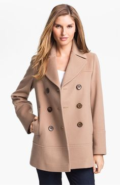 Fleurette Double Breasted Loro Piana Wool Peacoat available at #Nordstrom