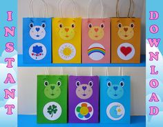 DIY Printable Carebears Favor Bags/ by CreativePartyStudio on Etsy