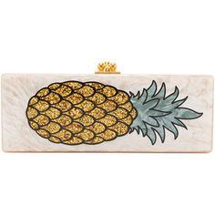 Edie Parker Flavia Pineapple Clutch