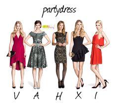 Dé partydress voor je bodytype. www.lidathiry.nl Klik op de foto voor meer details. YvN: Ik neig hier naar het model van A en niet naar X (te kort, te bloot)