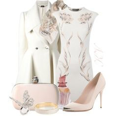 """""""White&Pink Beauty"""" by florikaa on Polyvore"""