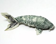 Money Origami Koi Instructions VIDEO PART 1 . Great news guys, the money origami koi videos are now ready, and here is the first one! Origami Design, Origami Koi Fish, Folding Money, Origami Paper Folding, Dollar Bill Origami, Money Origami, Origami Bow, Origami Heart, Poisson D'avril Origami