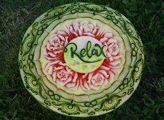 Digital photography watermelon carving Relax watermelon