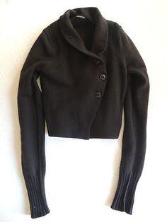 Ann Demuelemeester Black Asymmetrical Sweater On www.FullCircleFashion.com
